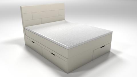 Кровать Домино + матрас с мебельными бортами