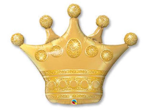 Фольгированный шар Корона золотая