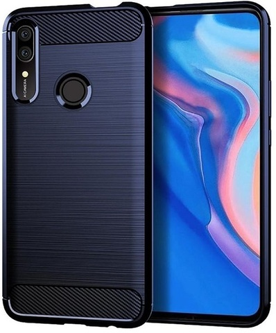 Чехол Huawei P Smart Z (Y9 Prime 2019, Enjoy10 Plus, Honor 9X Premium) цвет Blue (синий), серия Carbon, Caseport