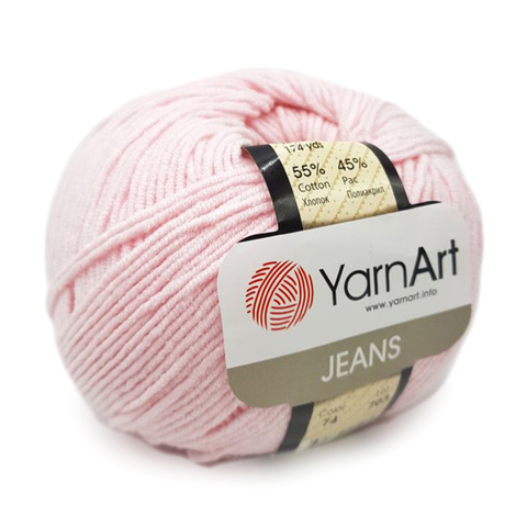 Пряжа YarnArt JEANS - (74-нежно-розовый)