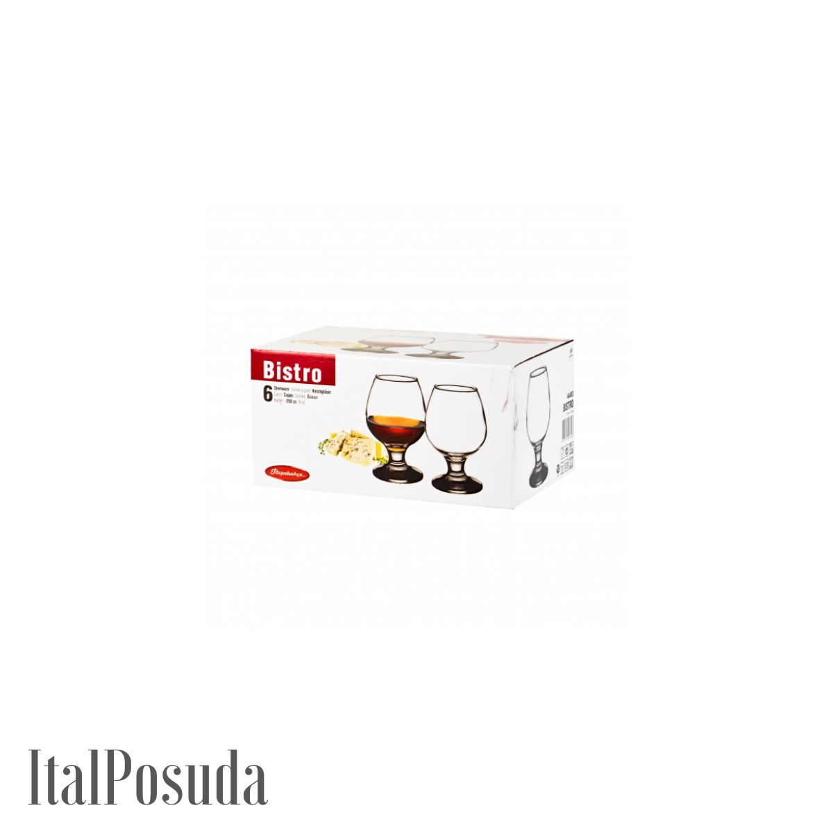 Набор бокалов для коньяка Pasabahce Bistro (Бистро), 6 шт BP44188