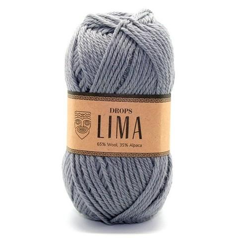 Пряжа Drops Lima 8465 стальной