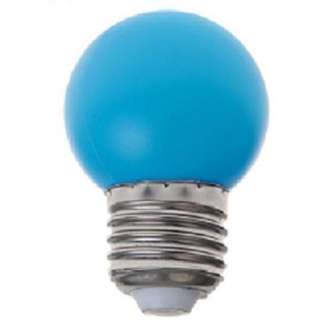 Светодиодная лампа - шарик, 1Вт, Е27, синяя.