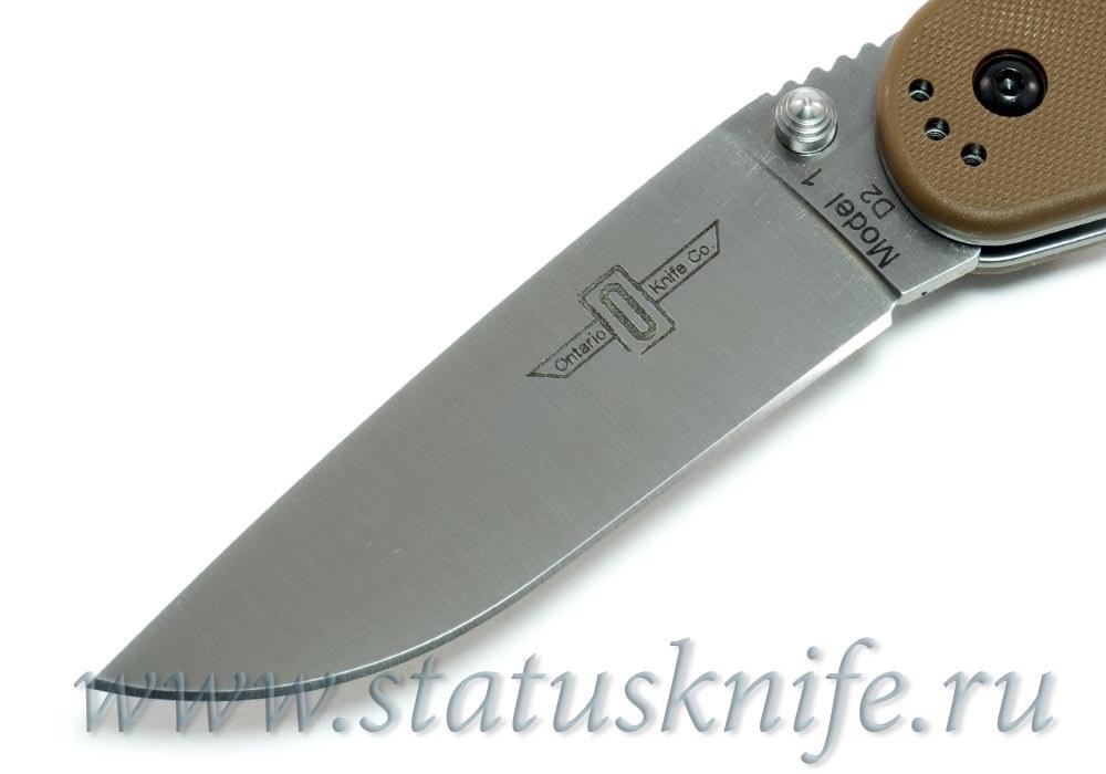 Нож Ontario Rat 1 D2 8867CB коричневый - фотография
