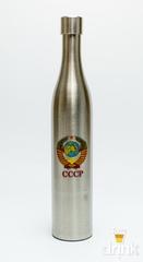 Фляга бутылка «СССР», в коричневом кожанном чехле, 800 мл, фото 2