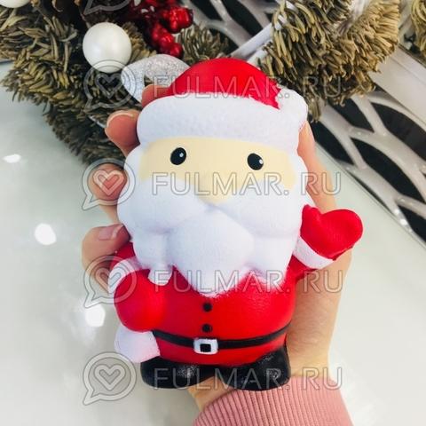 Сквиши Дед Мороз Санта с посланием игрушка антистресс