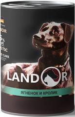 Консервы для пожилых собак, Landor, с ягненком и кроликом