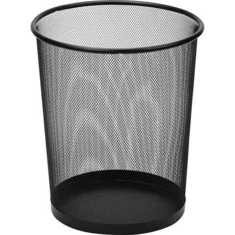 Корзина для мусора Attache 17 л металл черная (29.5х35 см)
