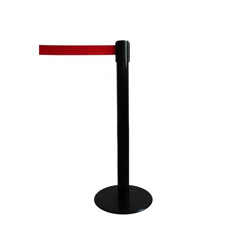 Стойка ограждения напольная Барьер с красной вытяжной лентой (200 см)