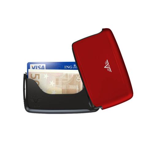 Визитница c защитой Tru Virtu Pearl, красный , 104x67x17 мм