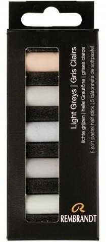 Набор сухой пастели Rembrandt 5цв светло-серый картон.упак