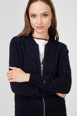 Женская темно-синяя кофта NANOU AOJ Tommy Hilfiger