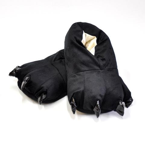 Тапочки царапки черные детские