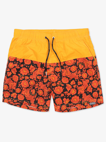 "Swim shorts ""Red-yellow khokhloma"""