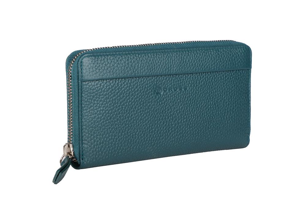 Зелёный большой женский кошелёк-клатч 20х10х2см CROSS Colors Quetzal AC3138287_5-131