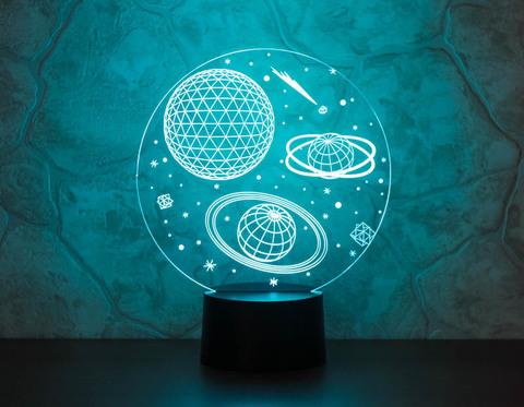 3D ночник Космос