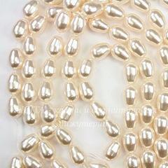 5821 Хрустальный жемчуг Сваровски Crystal Creamrose  грушевидный 11х8 мм