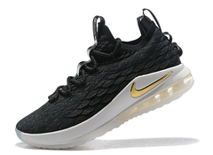 Nike LeBron 15 Low 'Black/Metallic Gold'