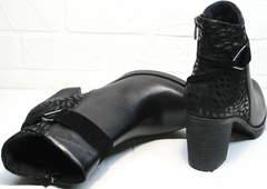 Ботильоны на устойчивом каблуке Lady West 1343 101 Black