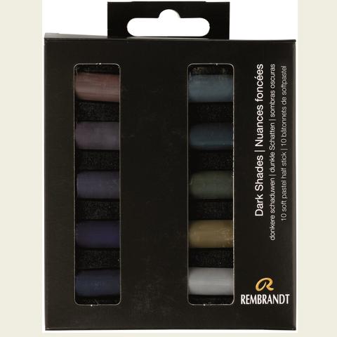 Набор сухой пастели Rembrandt 10цв темные цвета картон.упак