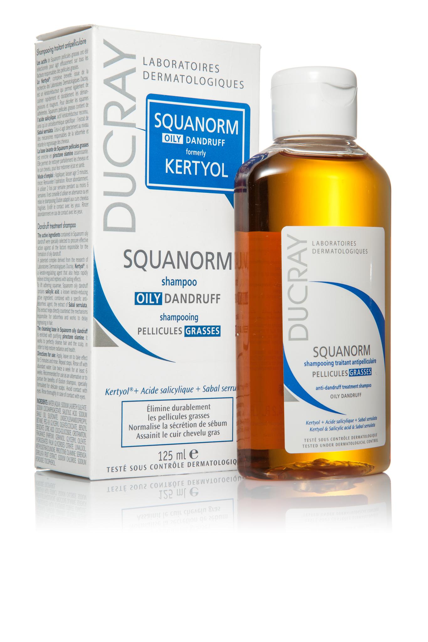 Ducray Squanorm шампунь от жирной перхоти 125 мл.