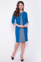 <p>Изысканное платье с контрастной вставкой попереду - отличное решение для создания утонченного образа. Рукав 3/4 с манжетом. (Длины: 44=96см; 46=96см; 48=97см; 50-52=100см)</p>