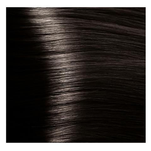 Крем краска для волос с гиалуроновой кислотой Kapous, 100 мл - HY 4.12 Коричневый табачный