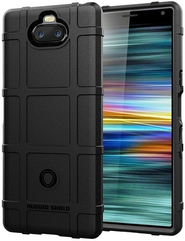 Чехол Sony Xperia 10 цвет Black (черный), серия Armor, Caseport
