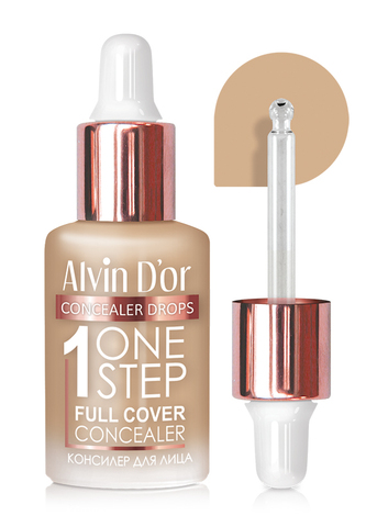 Alvin D`or CFD-1 Консилер для лица  1 ONE STEP drops 8мл (тон 02 ванильно-бежевый)
