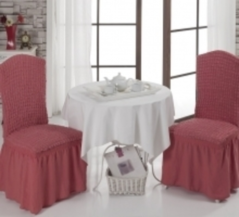 Чехлы на стулья (2 шт) цвет грязно-розовый