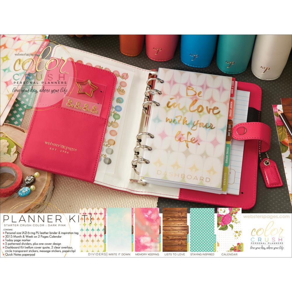 Планер PERSONAL PLANNER KIT : Dark Pink  by Websters Pages
