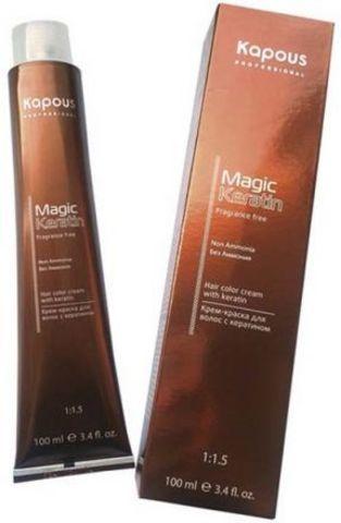 Крем-краска для волос без аммиака Non Ammonia, Kapous Magic Keratin,100 мл.