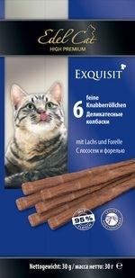 Лакомство для кошек Edel Cat Колбаски лосось, форель купить с доставкой в интернет-магазине зоогастроном.ру