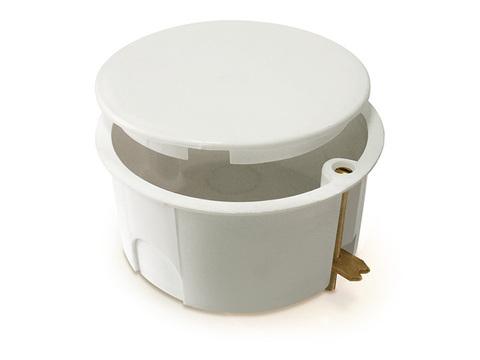 Установочная коробка СП D73х73мм, углубленная, крышка, метал. лапки, IP20, TDM