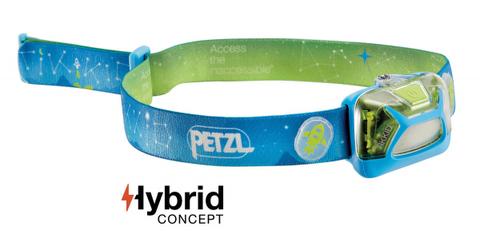 Фонарь светодиодный налобный Petzl Lamp Tikkid голубой, 20 лм, 3 AAA