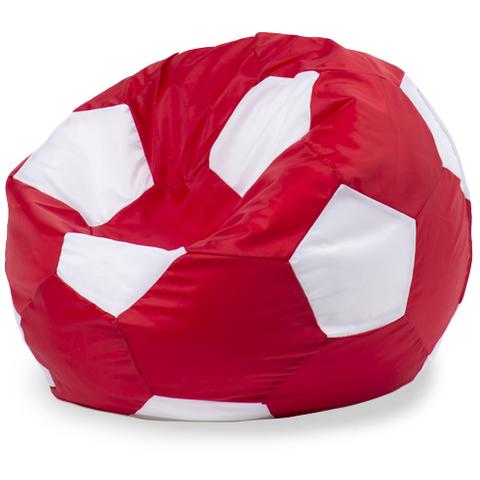 Бескаркасное кресло «Мяч» XL, Красный и белый