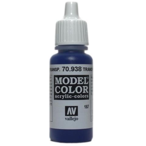 Model Color Transparent Blue 17 ml.