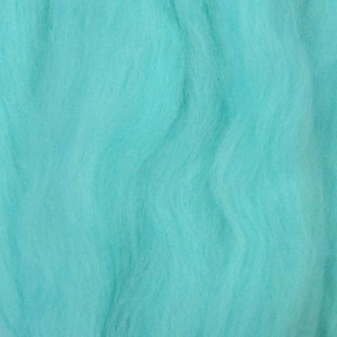 Шерсть для валяния полутонкая 222 Голубая бирюза (Пехорка), фото