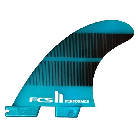 FCS II Performer Neo Glass Tri-Quad Fins Teal Gradient