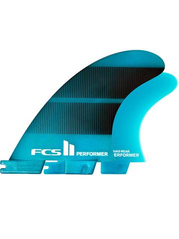 FCS II Performer Neo Glass Tri-Quad Fins Teal Gradient