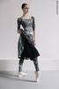 Комплект: Купальник 2 Рукава + леггинсы Zigsi + Репетиционная юбка, испачканные принтом
