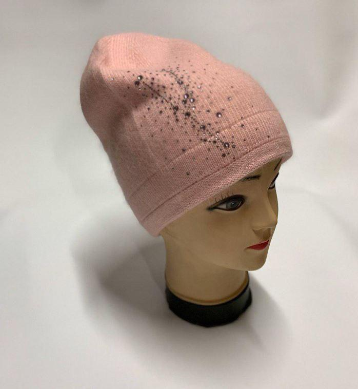 Женская шапка светло-розовая SH H9509-1A rose