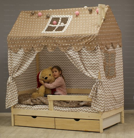 Кроватка-домик «Лапландия» цвет натуральный
