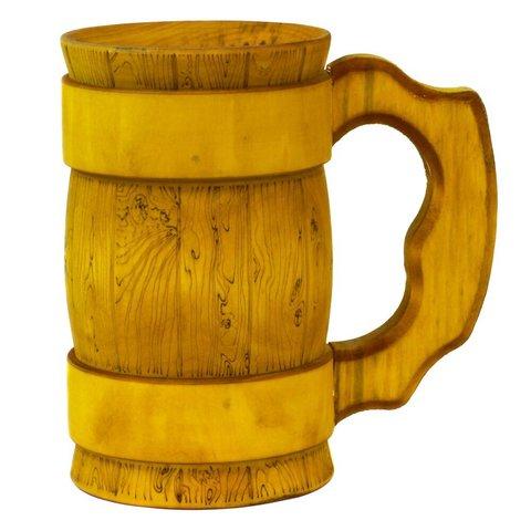 Кружка пивная деревянная WOOD&GOOD Classic, 500 мл