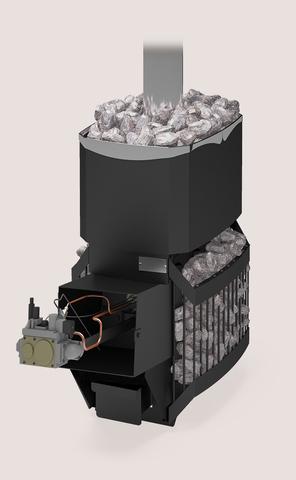 Печь для бани Русь-Сетка-12 Л с АГГ-13П