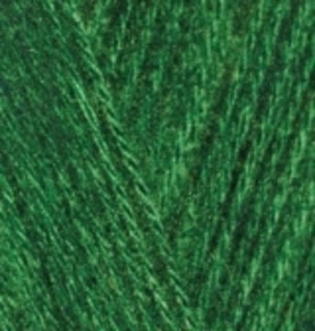 Пряжа Alize Angora Gold 118 зеленая трава