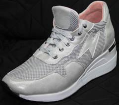 Модные женские кроссовки Topas 4C-8045 Silver.