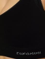 Евромама. Топ послеродовой бесшовный хлопок, черный. вид 6