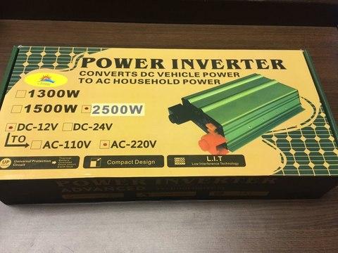 Инвертор 12-220V YURNIX Юрникс 2500W 12 на 220вольт 2500 Ват преобразователь напряжения