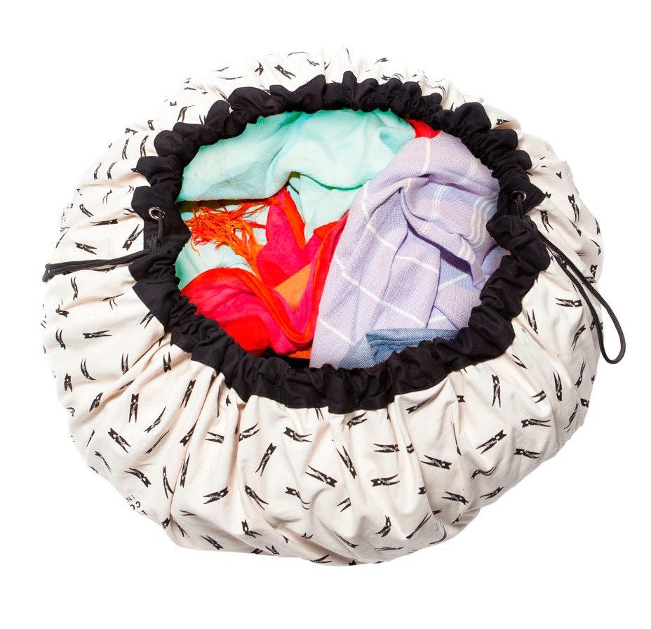 Коврик-мешок для игрушек Play&Go. Коллекция Print. Прищепка